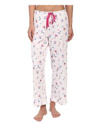 Carole Hochman - Red Printed Notch Collar Short Sleeved Pajama Set - Lyst