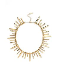 Rachel Zoe - Metallic 'stella' Spike Collar Necklace - Lyst