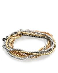 Carolina Bucci | Pink Rose Gold Disco Ball Bracelet | Lyst