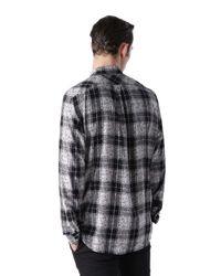 DIESEL   Black Shirt S-ozzy Slim Fit Denim Collar for Men   Lyst