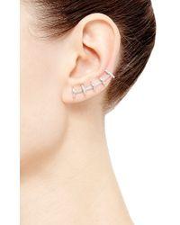 Paige Novick - Metallic 5 Row Half Circle Single Cara Ear Climber - Lyst