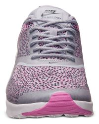 Nike - Gray Women'S Air Max Thea Print Running Sneakers From Finish Line - Lyst