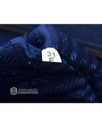 Prada - Preowned Blue Cuir Triple Zip Dome Bag - Lyst