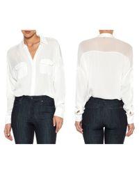 Joe's Jeans | White Dolman Sleeve Shirt | Lyst
