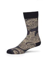 Etro - Blue Paisley Socks for Men - Lyst