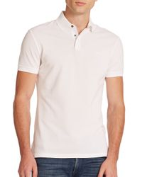 Ralph Lauren Black Label | White Mercerized Stretch-mesh Polo for Men | Lyst