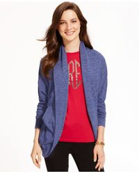 Tommy Hilfiger | Blue Open-front Knit Cardigan | Lyst