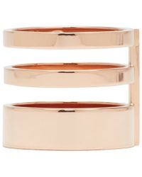 Repossi | Metallic Rose Gold Triple Band Berbere Ring | Lyst