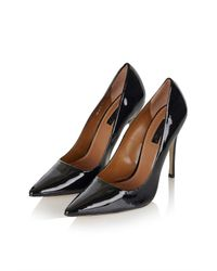 TOPSHOP | Black Gallop Patent Court Shoes | Lyst