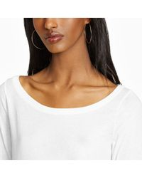 Polo Ralph Lauren - White Cotton Jersey Long-sleeved Tee - Lyst