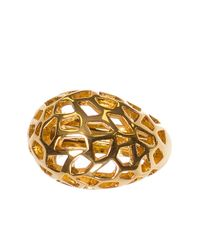 Kara Ross | Metallic Gold Tne Cutout Cocktail Ring | Lyst