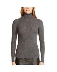 Polo Ralph Lauren | Gray Ribbed Merino Wool Turtleneck | Lyst