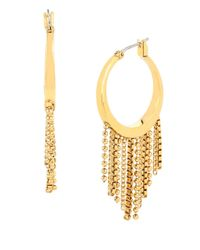 Diane von Furstenberg | Metallic Fringed Hoop Earrings | Lyst