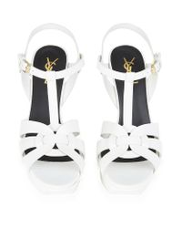 Saint Laurent - White Tribute Sandal 75 - Lyst