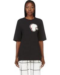 3.1 Phillip Lim - Black Poodle Patch Oversize T_shirt - Lyst