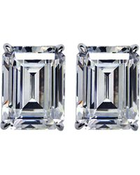 Carat* | Metallic Emerald 1ct Solitaire Stud Earrings | Lyst