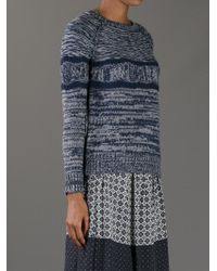 Vanessa Bruno Athé - Blue Chunkyknit Sweater - Lyst