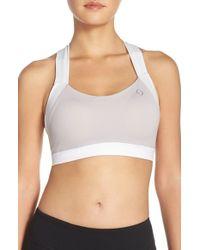 Moving Comfort - White 'uplift' Cross Back Sports Bra - Lyst