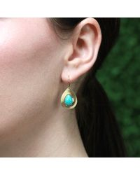 Irene Neuwirth - Blue Turquoise Teardrop Earrings - Lyst