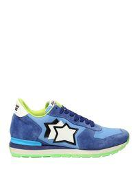 Atlantic Stars - Blue Suede & Nylon Running Sneakers for Men - Lyst