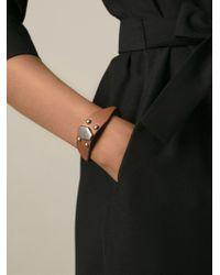 Saint Laurent   Brown Studded Leather Bracelet   Lyst