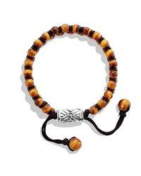 David Yurman - Brown Spiritual Beads Two-row Bracelet, 6mm for Men - Lyst