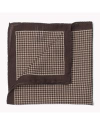 Tommy Hilfiger | Brown Wool Pocket Square for Men | Lyst