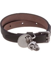 Alexander McQueen - Olive Green Wrap Bracelet for Men - Lyst