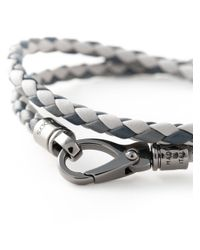 Tod's - Gray Braided Bracelet for Men - Lyst