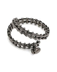 ALEX AND ANI | Gray 'vintage 66' Chain Wrap Bracelet - Hematite | Lyst