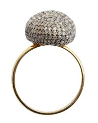 Amrapali | Metallic Pave Diamond Curved Face Ring | Lyst