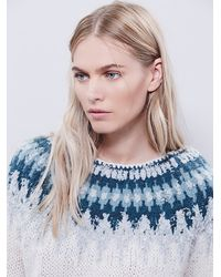 Free People - White Baltic Fairisle Pullover - Lyst