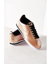 d9452b27ff Lyst - Nike Women s Classic Cortez Leather Sneaker in Metallic