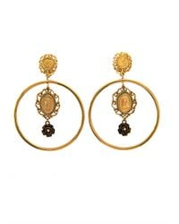 Dolce & Gabbana | Metallic Heritage Madonna Hoop Earrings | Lyst