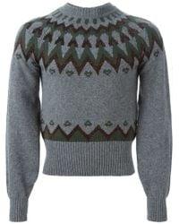 Kolor - Gray ' Beacon' Sweater for Men - Lyst