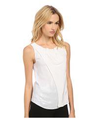Armani Jeans - White Silk Tank Top - Lyst