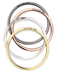 Marc By Marc Jacobs - Metallic Disc Bangles Set Of 4 - Lyst