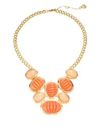 Trina Turk | Orange Cabochon Statement Necklace | Lyst