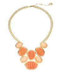 Trina Turk | Orange Cabochon Statement Necklace for Men | Lyst