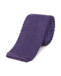Richard James - Purple Silk Tie - Knitted Pick for Men - Lyst