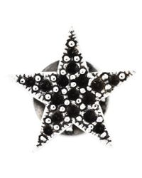Saint Laurent - Black Star Pin - Lyst