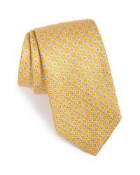 David Donahue | Metallic Floral Silk Tie for Men | Lyst