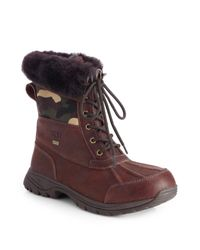 UGG | Brown Butte Camo Waterproof Boots for Men | Lyst