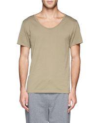 Acne Studios - Green Scoop Neck Cotton T-shirt for Men - Lyst