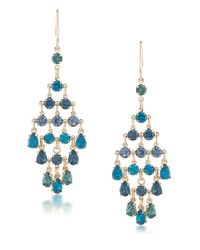 Carolee | Blue Niagara Mist Chandelier Earrings | Lyst
