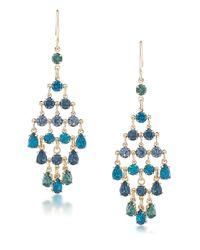 Carolee - Blue Niagara Mist Chandelier Earrings - Lyst