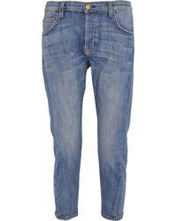 Current/Elliott - Blue The Pony Boy Straight Mid-Rise Stretch-Denim Jeans - Lyst