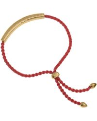 Monica Vinader | Red And Gold Vermeil Esencia Friendship Bracelet | Lyst