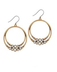 Lucky Brand | Metallic Two-tone Double Hoop Earrings, 2.1in | Lyst