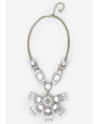 Bebe - Metallic Opal Stone Necklace - Lyst
